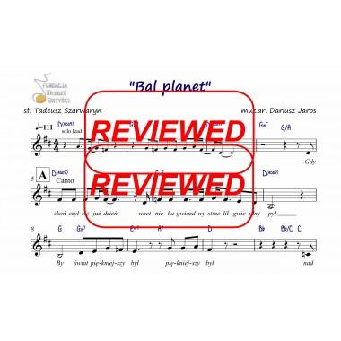 Bal planet - nuty (prymka, akordy, tekst)