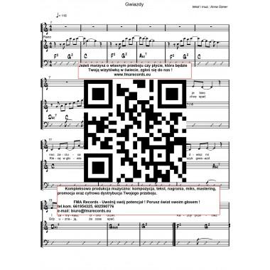 Gwiazdy - nuty (prymka, akordy, tekst)