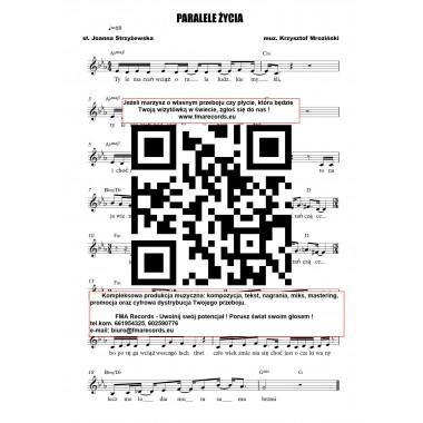 Paralele życia - nuty (prymka, akordy, tekst)