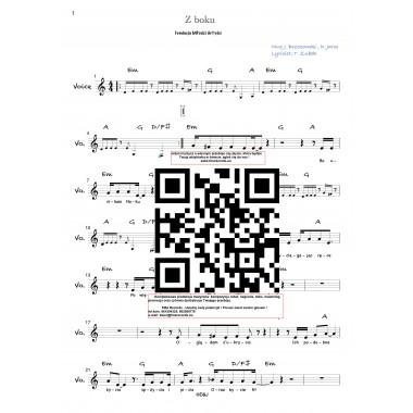 Z boku - nuty (prymka, akordy, tekst)