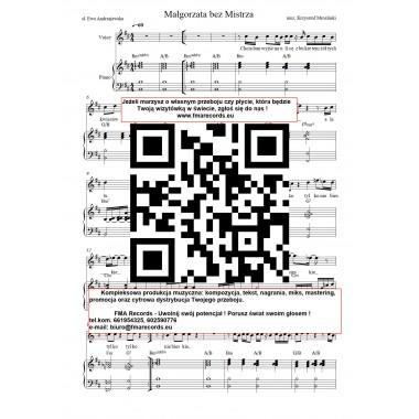 Małgorzata bez mistrza - nuty (prymka, akordy, tekst)