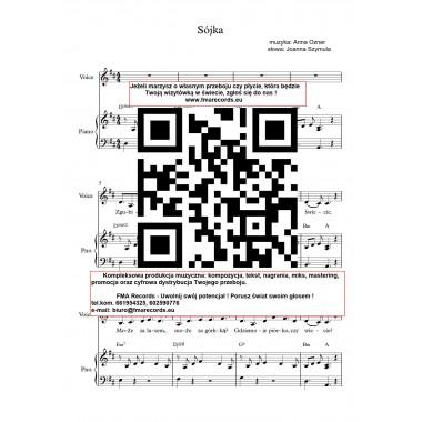 Sójka - nuty (prymka, akordy, tekst)
