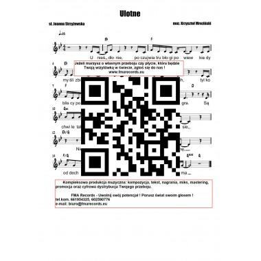 Ulotne - nuty (prymka, akordy, tekst)